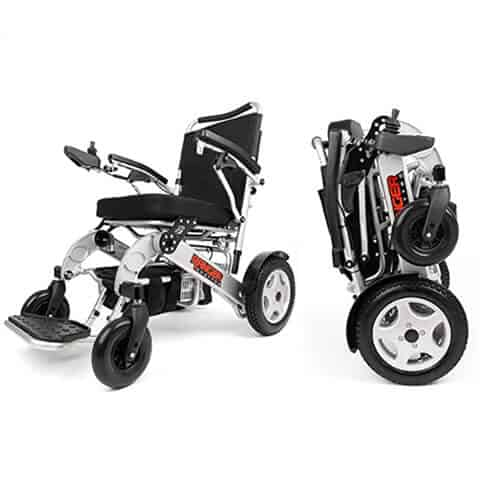 Heavy Duty Power wheelchair outdoors