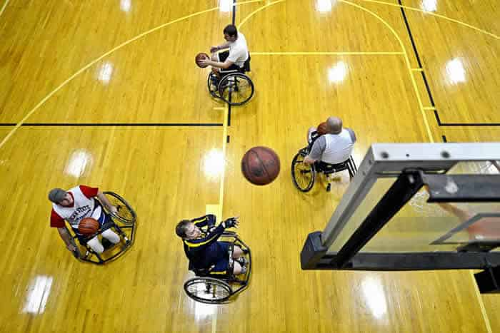 Sports wheelchair for basketball