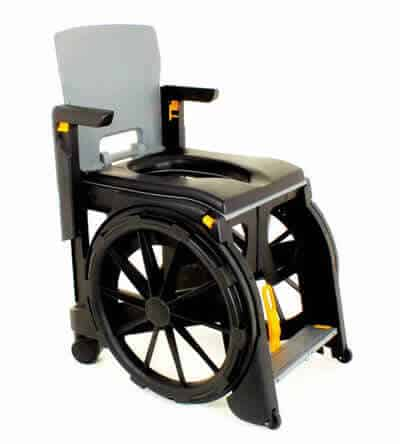 Wheelable commode and shower chair