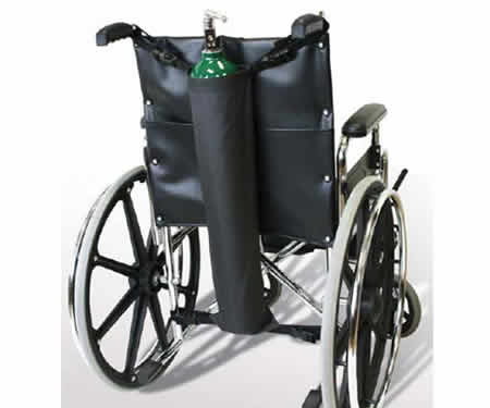 Wheelchair oxygen tank holder by NY ortho