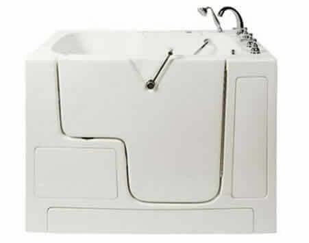 Slide-in tub 52x32x41 Wheelchair accessible